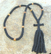 100-Knot Russian Prayer Rope - 4 ply with Olive Wood Beads