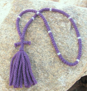 100-Knot Russian Prayer Rope -  4 ply Lilac