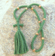100-Knot Russian Prayer Rope -  4 ply Pine Green