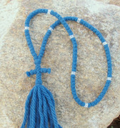 100-Knot Russian Prayer Rope -  4 ply Steel Blue