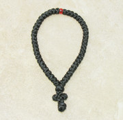 50-Knot Greek Prayer Rope - Satin with Red Bead