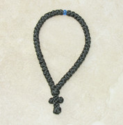 50-Knot Greek Prayer Rope - Satin with Blue Bead