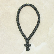 50-Knot Greek Prayer Rope - Satin with Black Bead