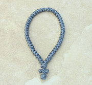 50-Knot Greek Prayer Rope - Deep Grey Satin