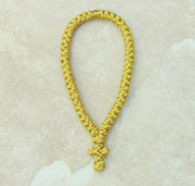 50-Knot Greek Prayer Rope - Gold Satin
