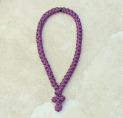 50-knot Greek Prayer Rope - Plum Satin