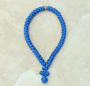 50-Knot Greek Prayer Rope - Royal Blue Satin