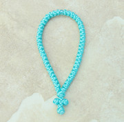 50-Knot Greek Prayer Rope - Turquoise Satin