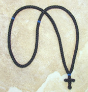 150-knot Prayer Rope - 2 ply with Blue Bead