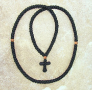 150-knot Prayer Rope - 2 ply with Olive Wood Bead