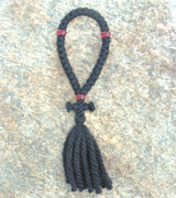 33-knot Russian Prayer Rope - 3 ply with Red Beads