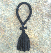 33-knot Russian Prayer Rope - 3 ply with Black Beads