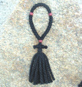 33-knot Russian Prayer Rope - 3 ply with Wooden Beads