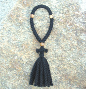 33-knot Russian Prayer Rope - 3 ply with Olive Wood Beads
