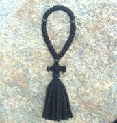 33-knot Russian Prayer Rope - 3 ply with Black Wood Beads