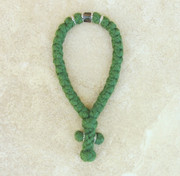 33-knot Greek with Accents - 4 ply Pine Green