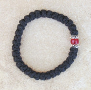 33-knot Bracelet with Accents - 2 ply with Red Bead