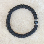33-knot Bracelet with Accents - 2 ply with Black Bead