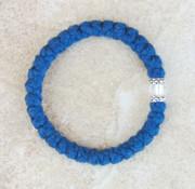 33-knot Bracelet with Accents - 2 ply Cobalt Blue