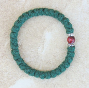 33-knot Bracelet with Accents - 2 ply Forest Green