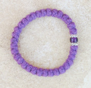 33-knot Bracelet with Accents - 2 ply Lavender