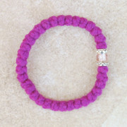 33-knot Bracelet with Accents - 2 ply Magenta