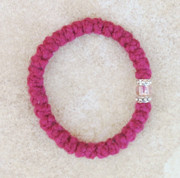 33-knot Bracelet with Accents - 2 ply Red