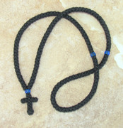 150-knot Prayer Rope with Blue Beads
