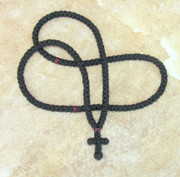 150-knot Prayer Rope with Garnet Beads