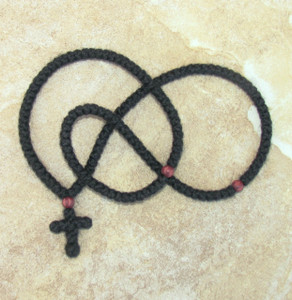 150-knot Prayer Rope with Wooden Beads