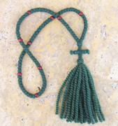 100-knot Russian Prayer Rope - 2 ply Forest Green