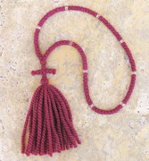 100-knot Russian Prayer Rope - 2 ply Red