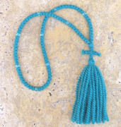 100-knot Russian Prayer Rope - 2 ply Teal Blue