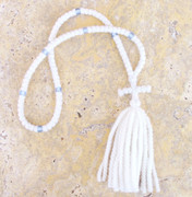 100-knot Russian Prayer Rope - 2 ply White