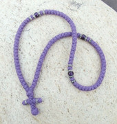 100-knot Greek with Accents Prayer Rope - 2 ply Lavender