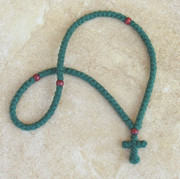 100-knot Greek Prayer Rope - 2 ply Forest Green