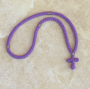 100-knot Greek Prayer Rope - 2 ply Lavender