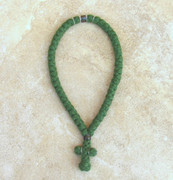 50-knot Greek with Accents - 4 ply Pine Green