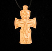 Hand carved neck cross