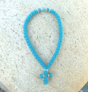 50-knot Greek with Accents - 2 ply Teal Blue