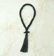 50-knot Russian Prayer Rope - with Green Beads