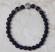 Semi-Precious Stone Amethyst Prayer Bracelet