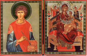 Diptych - Panagia & St. Paneleimon