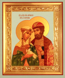 Icon Print of Sts. Peter & Fevronia