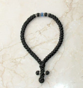 50-knot Greek with Accents - with Blue Beads