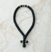 50-knot Greek with Accents - with Garnet Beads