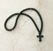 100-knot Greek Prayer Rope - with Red Beads