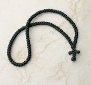 100-knot Greek Prayer Rope - with Black Beads