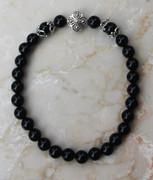 Semi-Precious Stone Black Onyx Prayer Bracelet