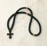 100-knot Greek Prayer Rope - with Olive Wood Beads